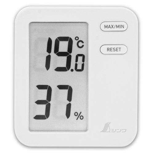 【シンワ測定�梶z73044:デジタル温湿度計 Home A  最高/最低 ホワイト  クリアパック