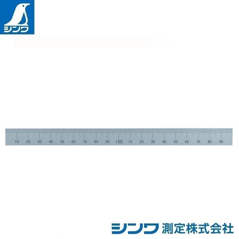 【シンワ測定�梶z14131:マシンスケール 300mm 上段左基点目盛 穴なし
