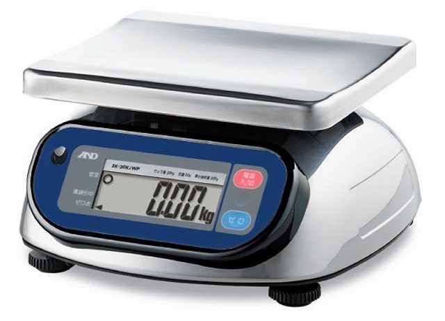 【�潟Gー・アンド・デイ】取引・証明用防塵・防水型上皿電子はかり  SK-1000iWP