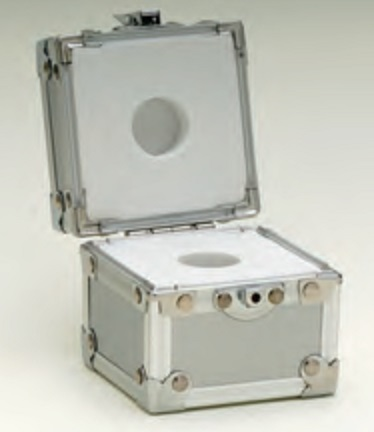 【�椛蜷ウてんびん製作所】円筒型分銅100g用アルミケース
