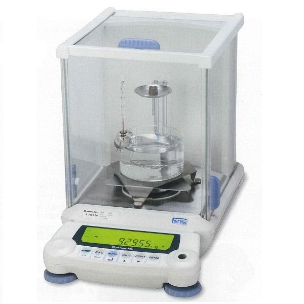 【�鞄�津製作所】比重測定装置  AUW220+比重測定キット  校正分銅内蔵型