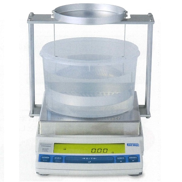 【�鞄�津製作所】比重測定装置UX1020H(小皿)+比重測定キット