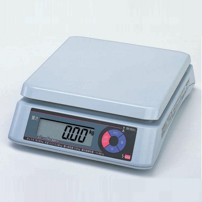 【�潟Cシダ】上皿型電子質量はかり  S-box  30kg  両面表示