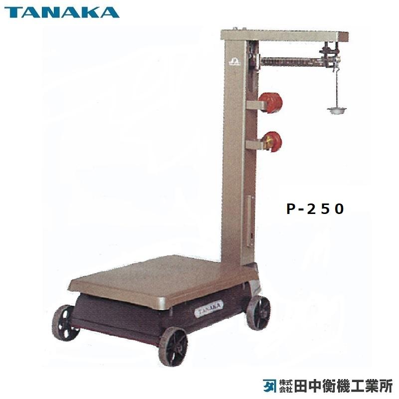 【�鞄c中衡機工業所】規格台ひょう P-250 (車付・金筒):250kg/100g・3号