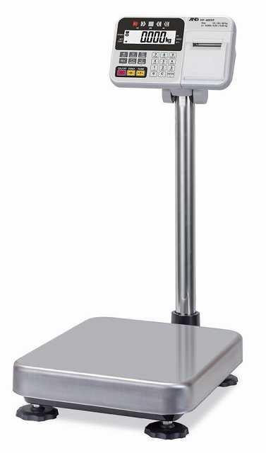 【�潟Gー・アンド・デイ】計量台のみ防塵・防水型電子台はかり  HV-60KCP  内蔵プリンタ付