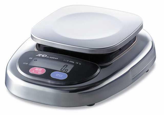 【�潟Gー・アンド・デイ】防塵・防水型上皿電子はかり  HL-3000WP