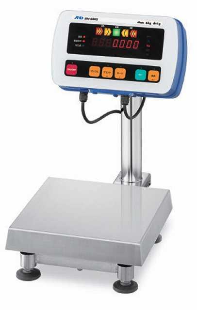 【�潟Gー・アンド・デイ】取引・証明用防塵・防水型電子台はかり  SW-15KS-K