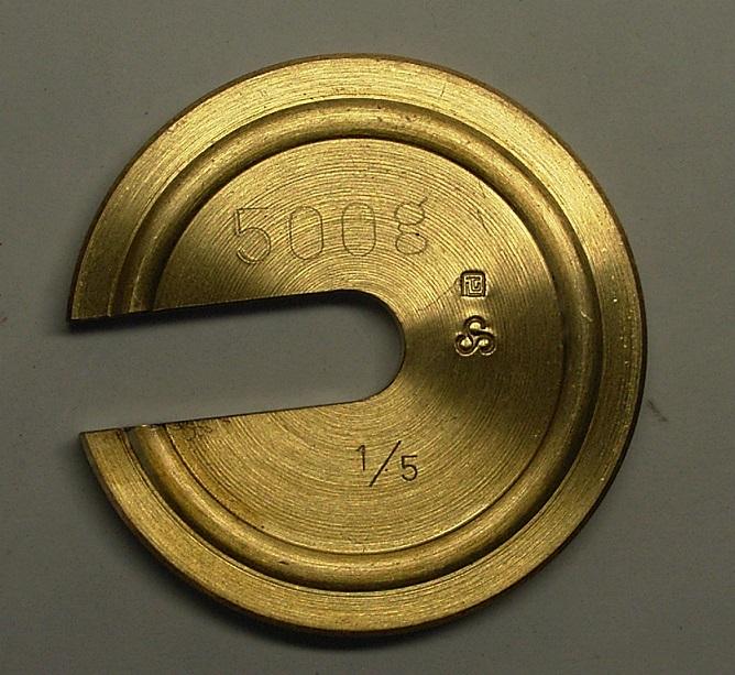 【�鞄c中衡機工業所】増おもり1/50:1kg・真鍮