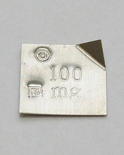 【�椛コ上衡器製作所】板状精密分銅:100mg・国家検定付