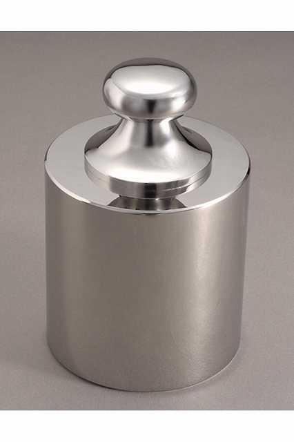 【�椛蜷ウ天びん製作所】基準分銅型円筒分銅:2kg(非磁性ステンレス鋼製)F1級(特級)F1CSB-2K