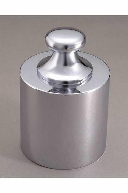 【�椛蜷ウ天びん製作所】基準分銅型円筒分銅:5kg(黄銅クロムメッキ製)F2級(1級)F2CBB-5K
