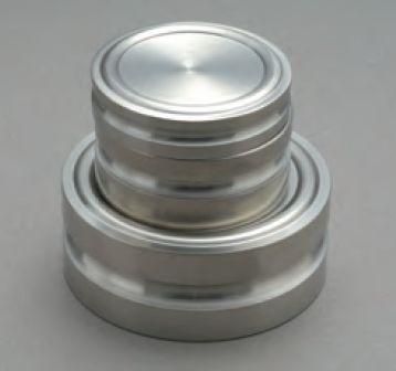【�椛蜷ウ天びん製作所】円盤型分銅(非磁性ステンレス鋼製)F2級5kgF2DS-5K