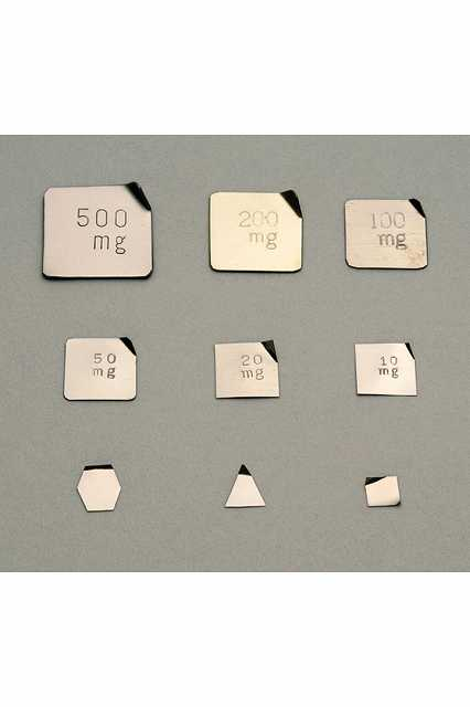 【�椛蜷ウ天びん製作所】基準分銅型板状分銅:5mg(非磁性ステンレス鋼製)F1級(特級)F1PSB-5M