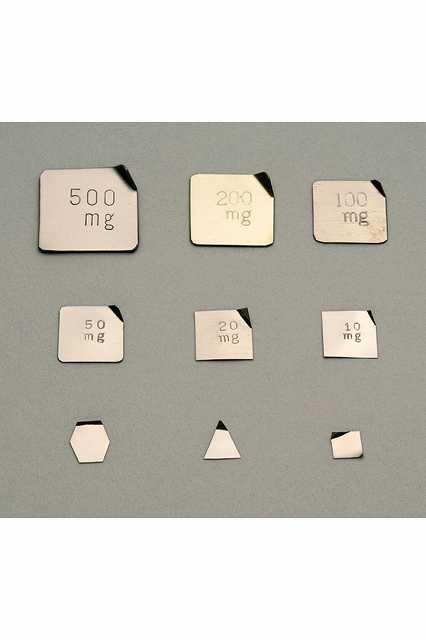 【�椛蜷ウ天びん製作所】基準分銅型板状分銅:5mg(非磁性ステンレス鋼製)M1級(2級)M1PSB-5M