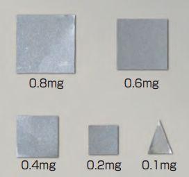 【�椛蜷ウ天びん製作所】板状分銅(微小質量)F1級相当0.2mgF1PS-02M