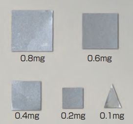 【�椛蜷ウ天びん製作所】板状分銅(微小質量)F1級相当0.1mgF1PS-01M