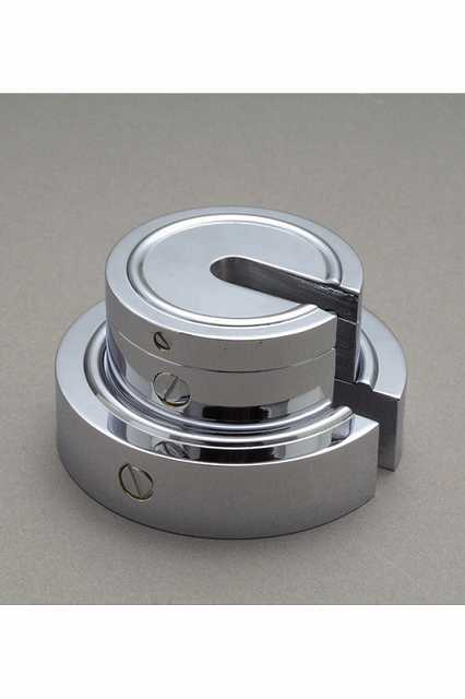 【�椛蜷ウ天びん製作所】増おもり型分銅:2kg(黄銅クロムメッキ製)F2級(1級)F2SB-2K