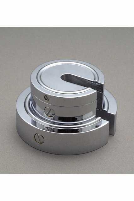 【�椛蜷ウ天びん製作所】増おもり型分銅:2kg(黄銅クロムメッキ製)M2級(3級)M2SB-2K