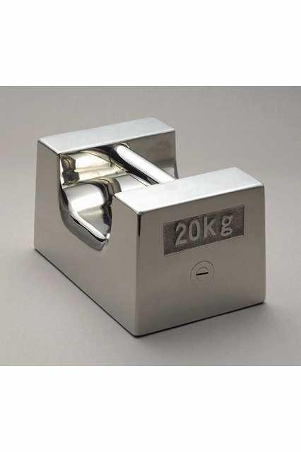 【�椛蜷ウ天びん製作所】枕型分銅:M1級20kg(非磁性ステンレス鋼製・鏡面仕上)M1RS-20K