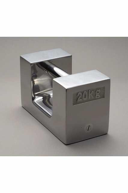 【�椛蜷ウ天びん製作所】枕型分銅:M2級20kgステンレス鋼製・鏡面仕上げM2RSL-20K