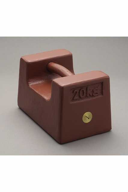 【�椛蜷ウ天びん製作所】枕型分銅:M1級2kg鋳鉄製・赤色塗装処理M1RF-2K