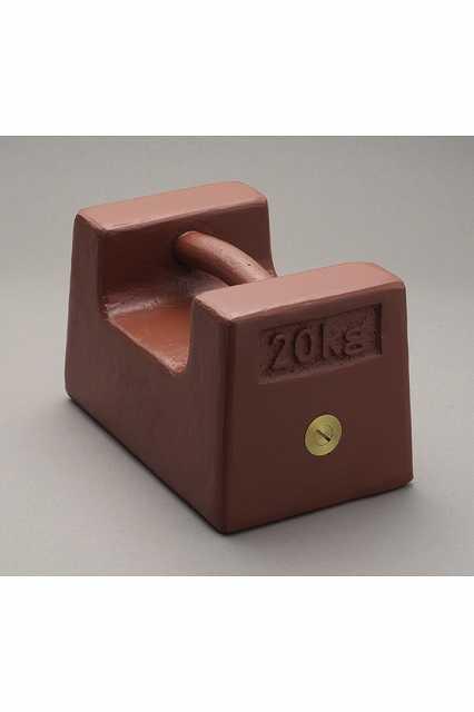 【�椛蜷ウ天びん製作所】枕型分銅:M2級20kg鋳鉄製・赤色塗装処理M2RF-20K