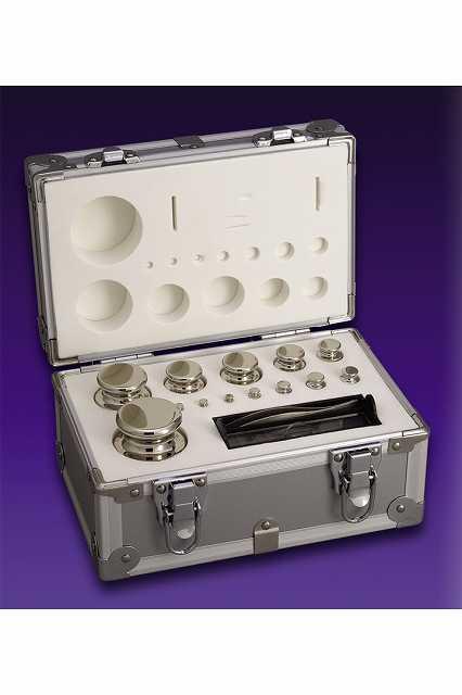 【�椛蜷ウ天びん製作所】OIML型円筒分銅セット:F2級合計5kg(1g〜2kg)F2CSO-5KA