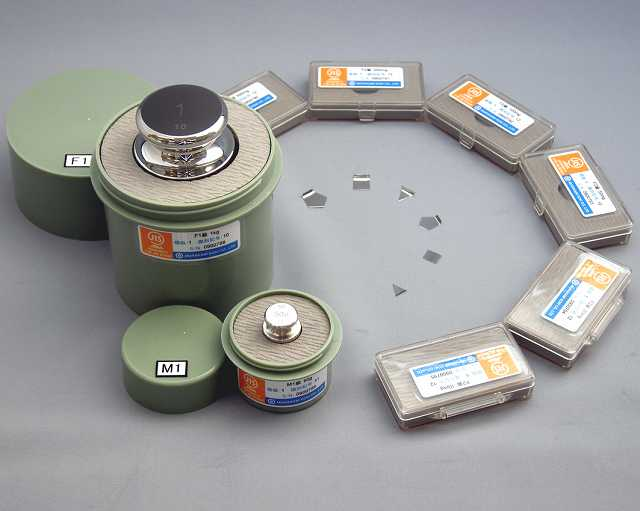 【�椛コ上衡器製作所】OIML型標準分銅(E2級)200mg板状+JCSS質量校正証明書(ランク2)