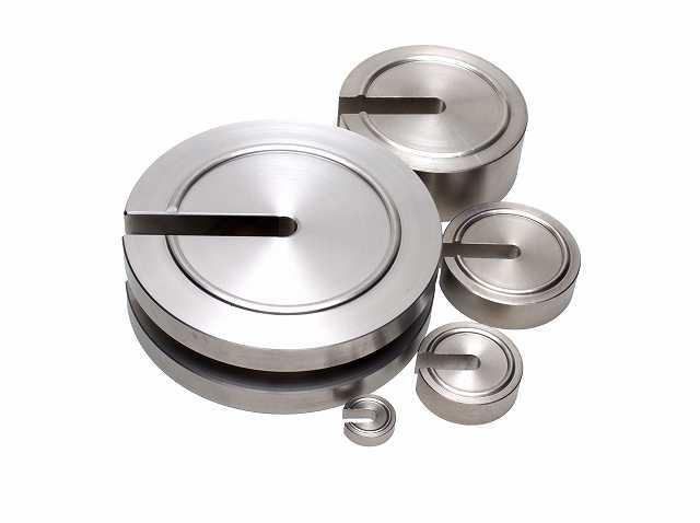 【�椛コ上衡器製作所】増おもり型基準分銅:2級20kg・調整ネジ付+基準器検査成績書付(有効期間5年)