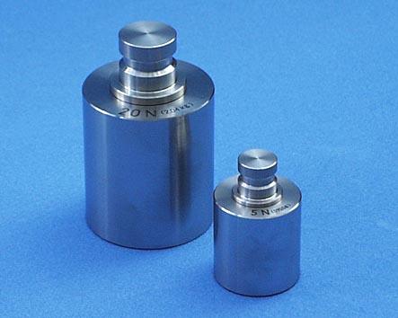【�椛コ上衡器製作所】円筒(精密分銅)型ニュートン分銅:0.5N