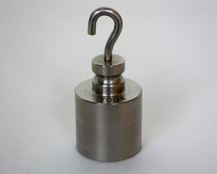 【�椛コ上衡器製作所】円筒型ニュートン分銅フック付:1N
