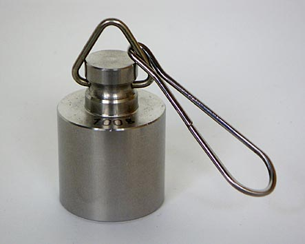【�椛コ上衡器製作所】円筒型ニュートン分銅環付:200N