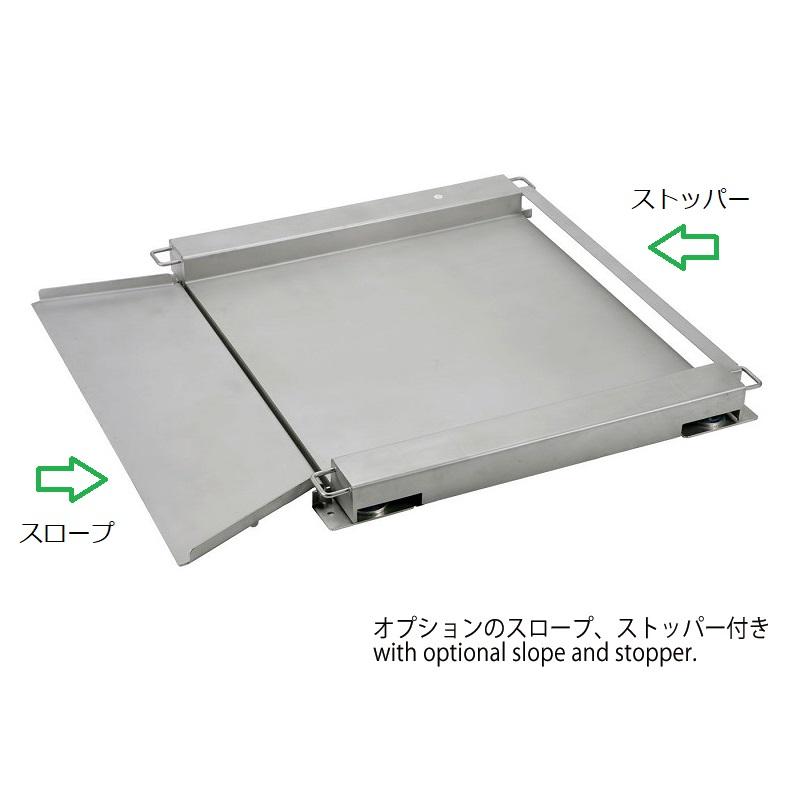 【�鞄c中衡機工業所】UTT�U用ステンレス製スロープ板:800×800�o用1枚