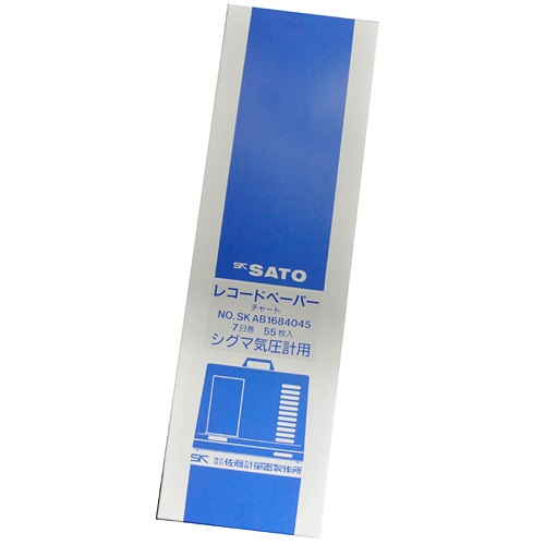 【(株)佐藤計量器製作所】シグマ�U型気圧記録計用記録紙:7日用