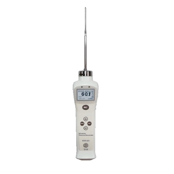 【(株)ティアンドデイ】中心温度データロガー RTR-601-110:ショートセンサ一体型