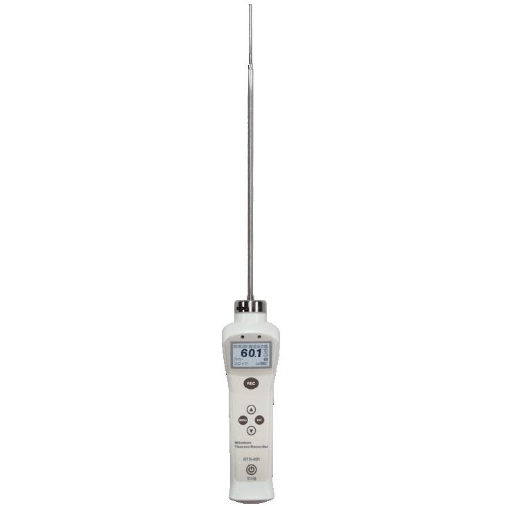 【(株)ティアンドデイ】中心温度データロガー RTR-601-130:ロングセンサ一体型