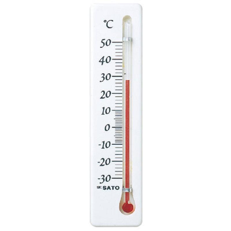 【(株)佐藤計量器製作所】冷蔵庫用温度計ミニ:縦型