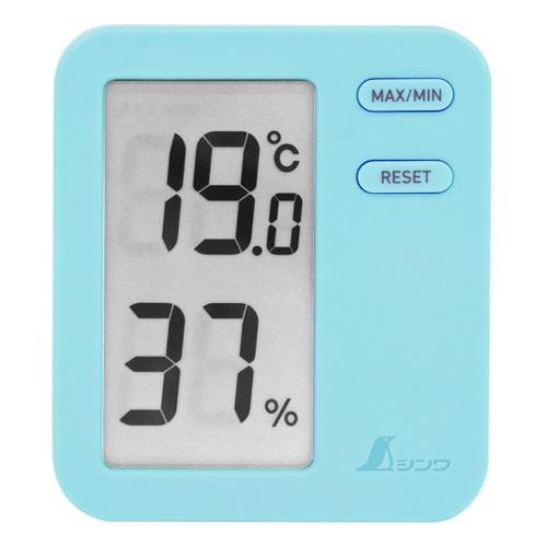 【シンワ測定�梶z73048:デジタル温湿度計 Home A  最高/最低 ブルー  クリアパック