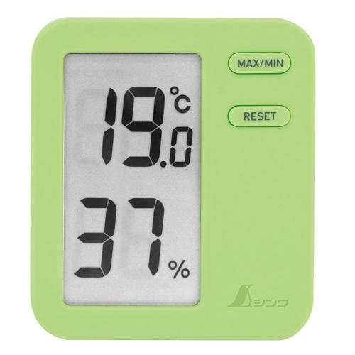 【シンワ測定�梶z73049:デジタル温湿度計 Home A  最高/最低 グリーン  クリアパック