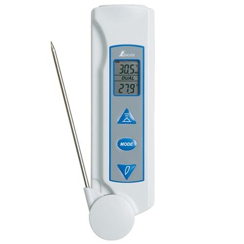 【シンワ測定�梶z73017:放射温度計D  防塵防水プローブ付放射率可変タイプ