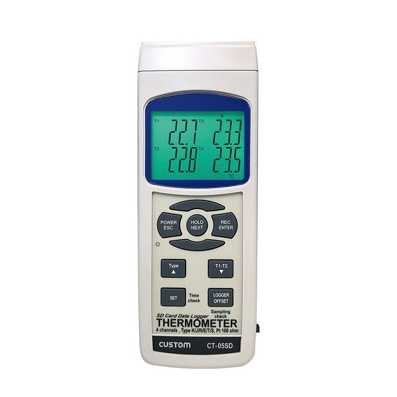 【�潟Jスタム】データロガー4チャンネル温度計  CT-05SD