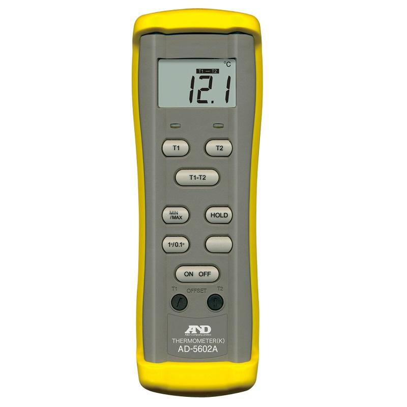 【�潟Gー・アンド・デイ】K熱電対温度計  AD-5602A:センサ2チャンネル
