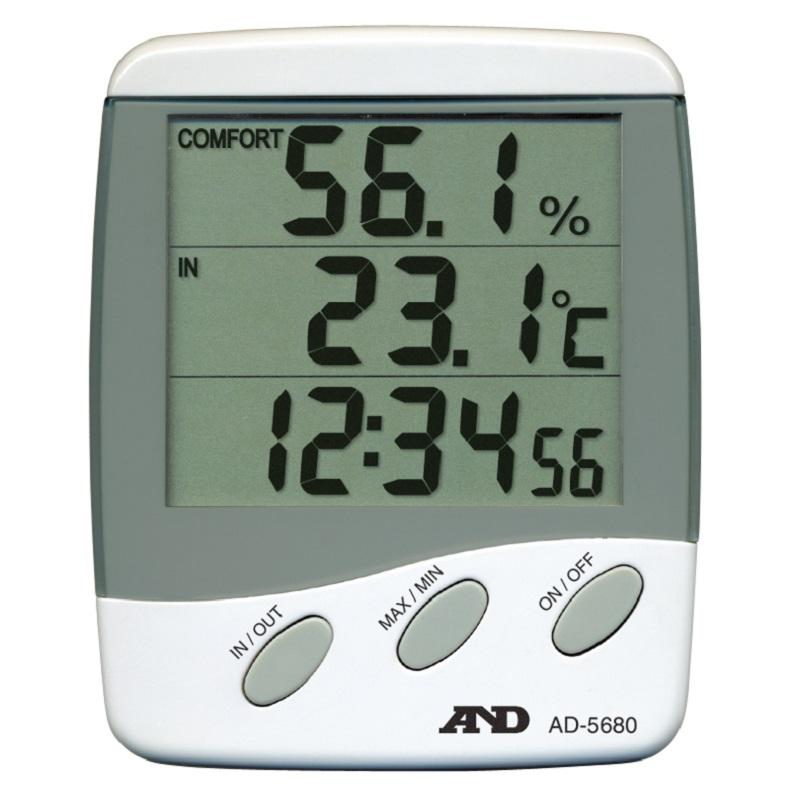 【�潟Gー・アンド・デイ】外部センサ付温湿度計  AD-5680