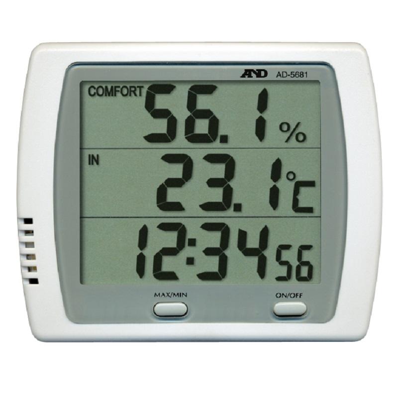 【�潟Gー・アンド・デイ】温湿度計  AD-5681