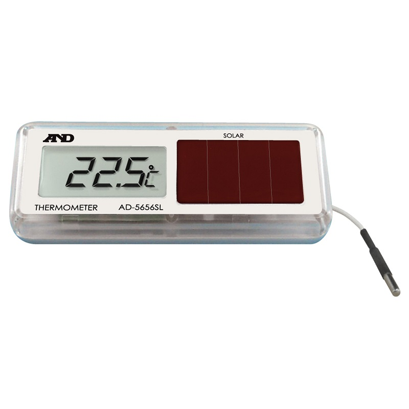 【�潟Gー・アンド・デイ】防水型小型温度計  AD-5656SL:ソーラー式