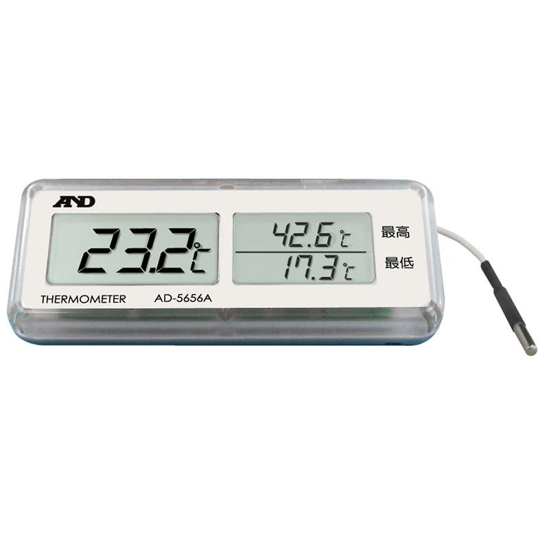 【�潟Gー・アンド・デイ】防水型小型温度計  AD-5656A:最高最低温度同時表示機能