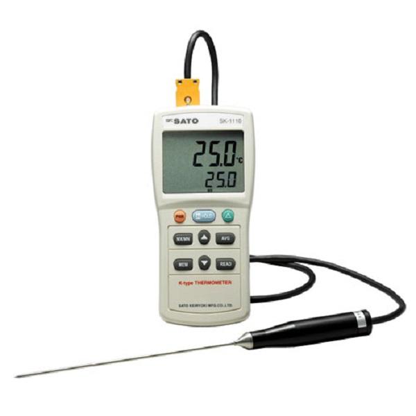 【(株)佐藤計量器製作所】デジタル温度計  SK-1110:指示計のみ