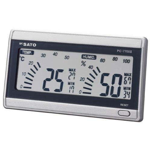 【(株)佐藤計量器製作所】デジタル温湿度計 ルームナビ  PC-7700�U