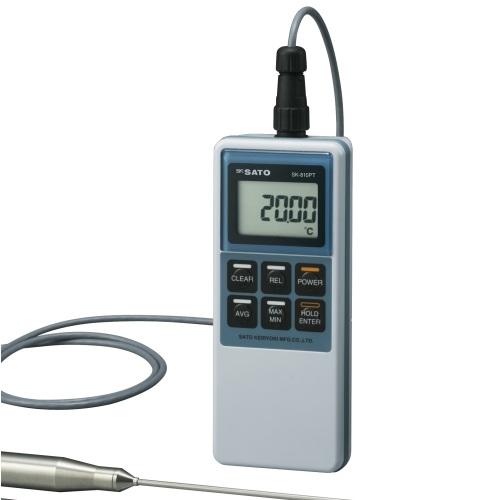 【(株)佐藤計量器製作所】精密型デジタル温度計  SK-810PT:指示計のみ