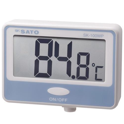 【(株)佐藤計量器製作所】壁掛型防水デジタル温度計  SK-100WP:指示計のみ
